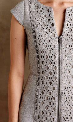 Cut-Out Neoprene Dress