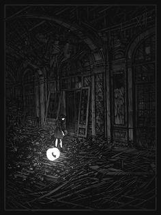 'darkness forgives' by daniel danger 18x24″ four color screenprint. only $20 today at http://danieldanger.storenvy.com/