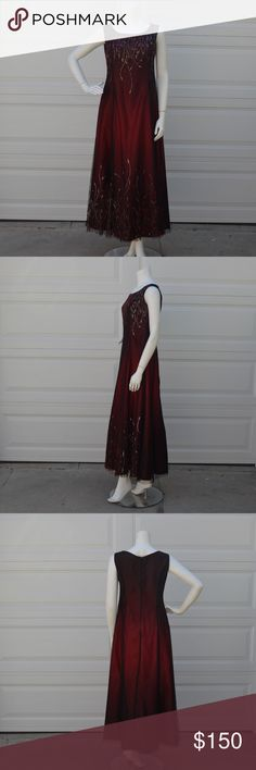 Long Evening Prom Wine Dress Long Prom Dresses, Long Wine Evening Dresses, With Beaded Up and Dowm. No returns accepted in this dress. Used only once, it is in good condition. Please check the photos before buying this product What you see in the photo's is what you will receive. I do my best to give accurate and complete descriptions of the items. Size: XL/XGrande Made in Usa Dollar Dresses Prom