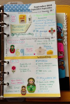 She's Eclectic: My week in my filofax #35 close up