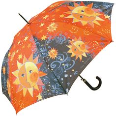 Sole by Rosina Wachtmeister Art Umbrella Automatic Walking Length - Brolliesgalore