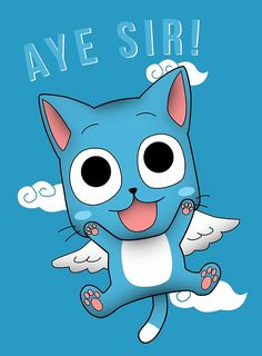 """ Posters by shadee Fairy Tail Cat, Fairy Tail Happy, Natsu Fairy Tail, Fairy Tail Family, Fairy Tail Merchandise, Happy Rock, My Buddy, Marker Art, Manga"