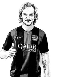 340. Drawing: Ivan RAKITIC Game, Drawings, Fictional Characters, Gaming, Sketches, Toy, Drawing, Fantasy Characters, Portrait