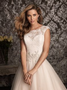 New lace beading Wedding dress lace wedding door Lemonweddingdress