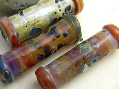 Lampwork Beads Two Sisters Designs HOT STIX 031115L by TwoSistersDesignss on Etsy