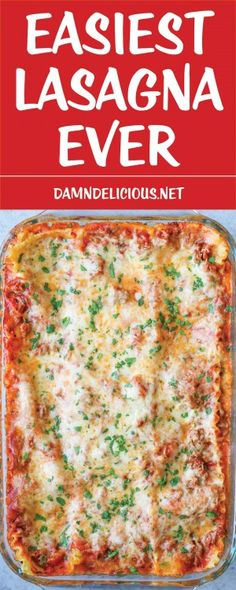 Easiest Lasagna Ever - just leave out the meat or substitute spinach