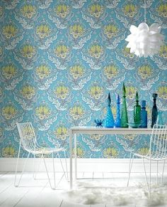 Papel de parede retrô: um banho de estilo