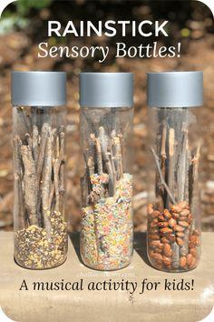 Rain stick sensory bottles
