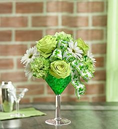 Green Dublin Cocktail #Houston #Flowers #Delivery #Green