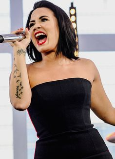 Demi Lovato performing at the VEVO exclusive concert in São Paulo, Brazil on October 20th.