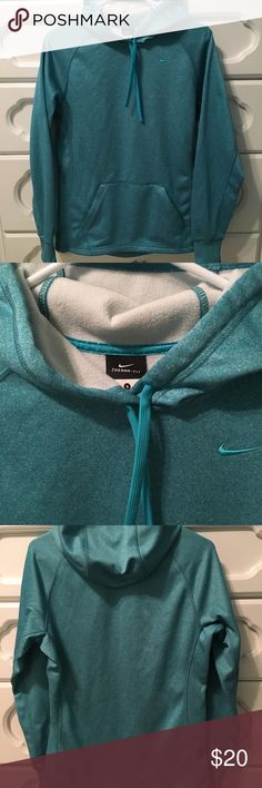 Nike Therma-Fit Blue Pullover Small Nike blue Therma Fit Pullover size Small is in excellent condition from a smoke free pet free home. Nike Tops Sweatshirts & Hoodies