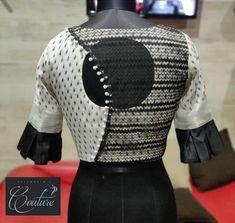 Stylish Blouse Back Neck Designs for Modern Look - Fashion Simple Blouse Designs, Stylish Blouse Design, Blouse Back Neck Designs, Design For Blouse, Latest Saree Blouse Designs, Indian Blouse Designs, Sari Design, Designer Kurtis, Blouse Lehenga