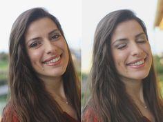 Registos fotográficos do resultado final do Projeto 100 mulheres/100 maquilhagens Mary Kay da Nicole Costa.