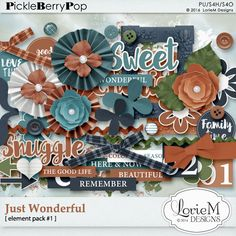 Just Wonderful Element Pack #1 By Lorie M Designs