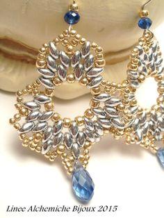 TUTORIAL orecchini a forma di fiore con perline di LineeAlchemiche