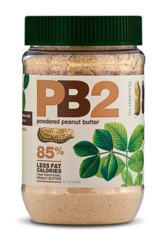 """Powdered Peanut Butter ($4 per jar) to add to chocolate protein shakes! ~ """"PB2 has the same consistency as full fat peanut butter with all of the natural roasted peanut flavor, but with nearly 85% less fat calories. PB2 is made with high quality peanuts that are slow-roasted to our specifications and pressed to remove the oil. All natural with no artificial flavors,sweeteners, or preservatives."""""""