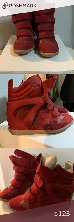 Women Platform High Top Hidden Wedge Chaussures Plates Décontracté Baskets Bottines