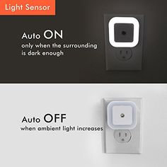 Blackt : 0.5W Plug-in LED Night Light Lamp with Daylight Dusk to Dawn Sensor White | Video Games | Best news and deals!