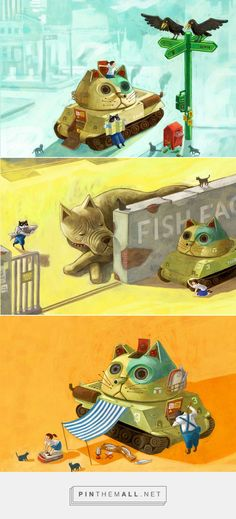 CATANK mini Picture Book on Behance - created via https://pinthemall.net