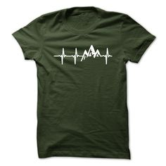 Mountain Heartbeat T-Shirt, Hoodie Mountain Tee Shirts