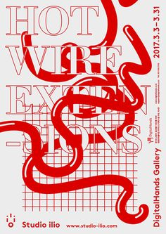 """wire extensions"""" by studio hik / south korea, 2017 / offset, 420 x 594 mm""""hot wire extensions"""" by studio hik / south korea, 2017 / offset, 420 x 594 mm Poster Layout, Poster Design, Graphic Design Posters, Graphic Design Typography, Graphic Design Illustration, Graphic Design Inspiration, Typography Layout, Creative Typography, Vintage Typography"""