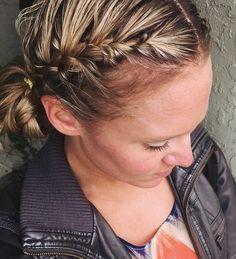 cute braided updo
