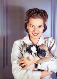 Maureen OHara and puppies