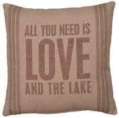 And The Lake Linen Pillow