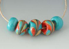 Outwest Art Glass Beads Lampwork Beads, Glass Art, Glass Beads, Crafty, Big, Handmade, Design, Hand Made