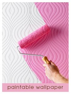 paintable textured wallpaper, this is pretty sweet