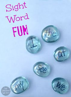 Hands On Sight Word Activity Idea using Glass Gems