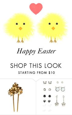 """Happy Easter 2017 💖"" by muppets-cookie-monster ❤ liked on Polyvore featuring Lizzie Fortunato"