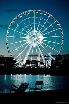 Ferris Wheel in Tuileries Gardens, Paris, France City Lights At Night, Night City, Sky Night, The Places Youll Go, Places To See, Portsmouth, Farris Wheel, Tuileries Paris, Belle France
