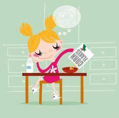 Education illustration by Katia De Conti, via Behance