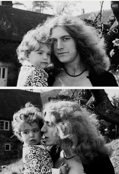 Robert Plant and son