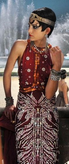 Catherine Martin's costumes for 'The Great Gatsby' 1920s Indian inspiration