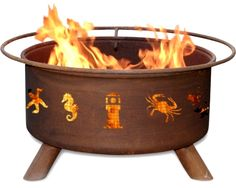 Atlantic Coast Fire Pit from Patina Products. Featured on Beach Bliss Living: http://beachblissliving.com/beach-bonfire-in-backyard-fire-pit-ideas/