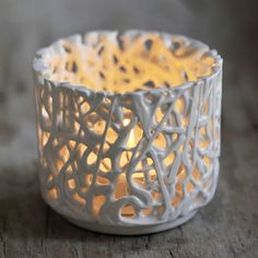 Tangled Web Small T-Light Holder by Timea Sido