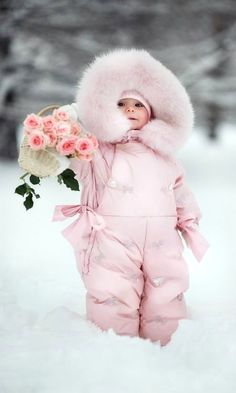 winter wonderland.....too bundled up to move!<3 such a sweetie! <3