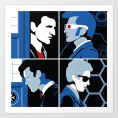 The 4 Doctors (2005-2018) Art Print by DWatson. Worldwide shipping available at Society6.com. Just one of millions of high quality products available.