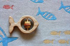 Wooden Rattle Fish/ Wooden Teether Fish/ Wooden Toy/ Baby Toy