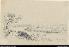 Martens, Conrad, 1801-1878. North & south Brisbane, Moreton Bay, N.S.W. [picture]
