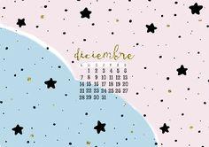 milowcostblog: calendario diciembre: imprimible y fondo