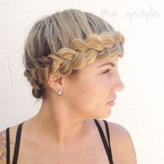 Halo braid.  For more hair inspiration you can follow on Instagram @wb_upstyles