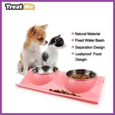 Stainless Steel Dog Bowl Animal Food Bowls Puppy Pet dog&cat Bowl accesorios para perros dieren benodigheden hond