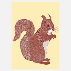 eu.Fab.com | Zeichnung Eichhörnchen