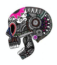 Sugar Skull art #skulls