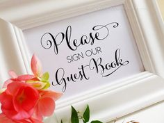 DIY Printable Wedding Sign Please sign our by YouGotMySunshine