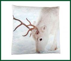 Dekokissen RENTIER Winter Kissen Weihnachten 45x45 Wohntextilien Kissen und Kissenhüllen Kissen mit Füllung