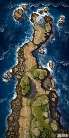 Fantasy Town, Fantasy World Map, Dungeons And Dragons Homebrew, D&d Dungeons And Dragons, Diorama, Dungeon Maps, Dnd World Map, Pathfinder Maps, Dnd Stories